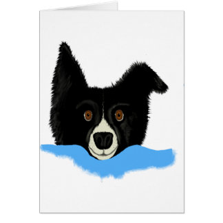 Border Collie Face Greeting Card