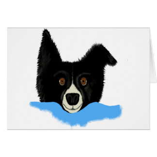 Border Collie Face Greeting Cards