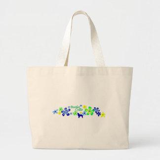 Border Collie Flowers Jumbo Tote Bag