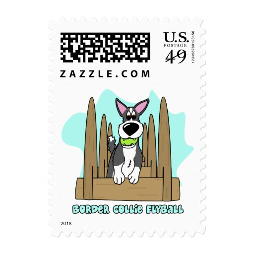 Border Collie Flyball Postage Stamps