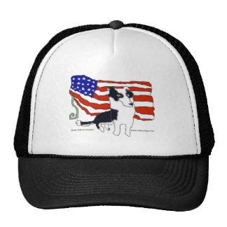 Border Collie for President Trucker Hats