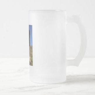 Border Collie Frosted Glass Beer Mug