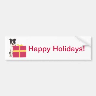 Border Collie Gift Box Bumper Stickers