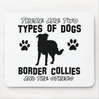 BORDER collie gift items Mousepads