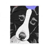 Border Collie Gifts Fleece Blanket