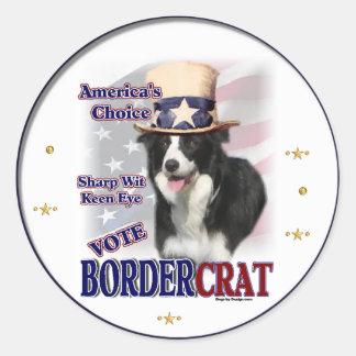 Border Collie Gifts Classic Round Sticker