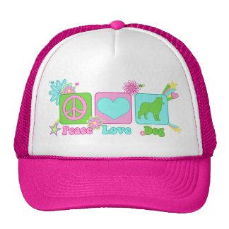 Border collie gorras de camionero