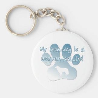 Border Collie Granddog Keychain
