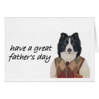 Border Collie Greeting Card~Father's Day