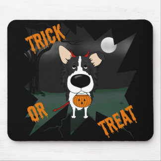 Border collie Halloween Mouse Pad