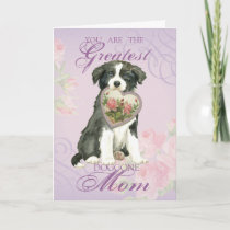 Border Collie Heart Mom Card