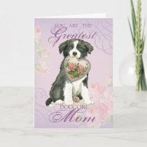 Border Collie Heart Mom Card