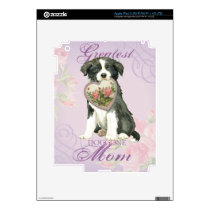 Border Collie Heart Mom Decal For iPad 3