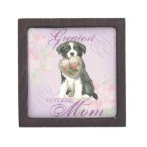 Border Collie Heart Mom Gift Box