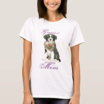 Border Collie Heart Mom T-Shirt