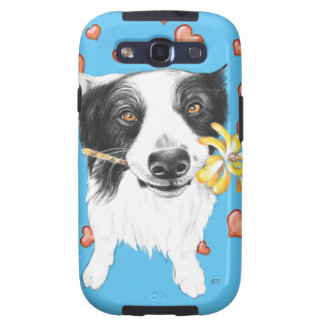 Border Collie Hearts Galaxy S3 Cases