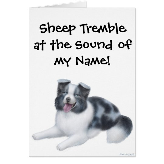 Border Collie Herding Dog Greeting Card