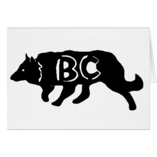 Border Collie Herding~Original Notecard