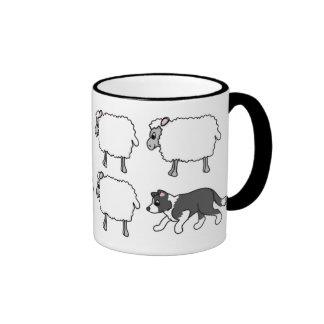 Border Collie Herding Sheep Mug
