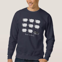 Border Collie Herding Sheep Sweatshirt