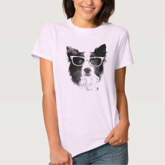 Border collie Hipster Tshirt