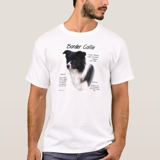 Border Collie History Design T-Shirt