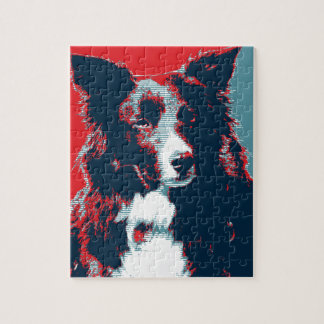 Border Collie Hope Parody Poster Jigsaw Puzzle