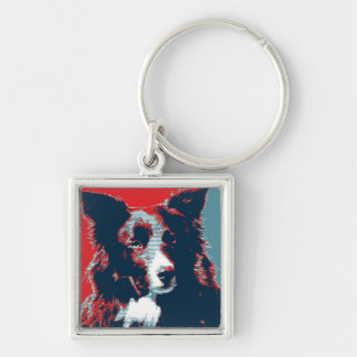 Border Collie Hope Parody Poster Keychain