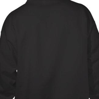 Border collie (impresión trasera) sudadera pullover