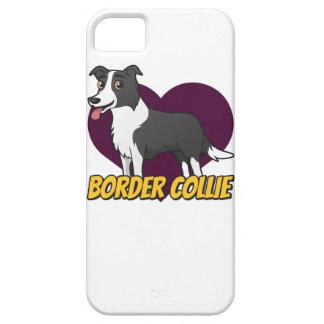 Border Collie in a purple heart iPhone SE/5/5s Case
