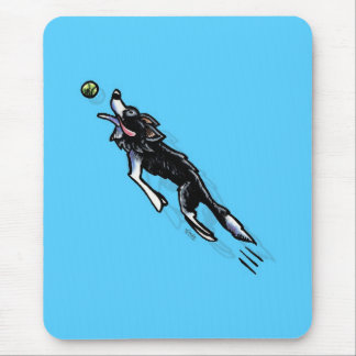 Border Collie in Action Mouse Pad