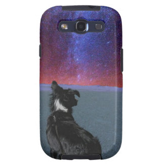 Border collie in space galaxy s3 covers