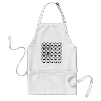 Border Collie in the Sheep Adult Apron