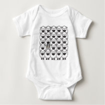 Border Collie in the Sheep Baby Bodysuit