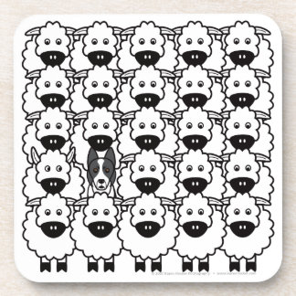 Border Collie in the Sheep Beverage Coaster