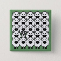 Border Collie in the Sheep Button