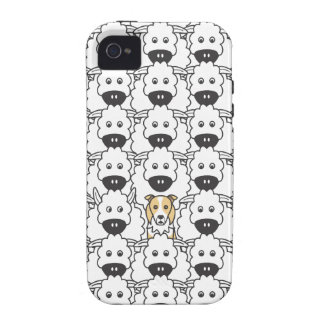 Border Collie in the Sheep Case-Mate iPhone 4 Cover