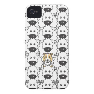 Border Collie in the Sheep iPhone 4 Covers