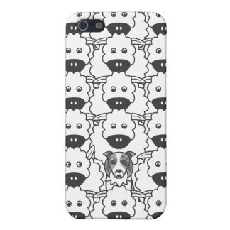 Border Collie in the Sheep Case For iPhone SE/5/5s