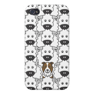 Border Collie in the Sheep Cover For iPhone 4