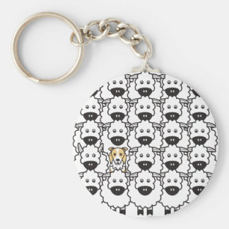 Border Collie in the Sheep Keychains