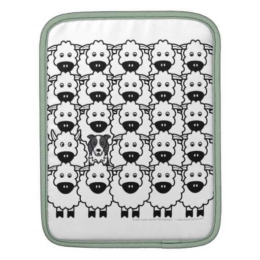 Border Collie in the Sheep Sleeves For iPads