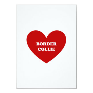 "Border collie invitación 5"" x 7"""