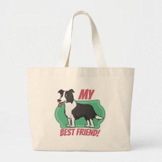 Border Collie is my best friend Jumbo Tote Bag