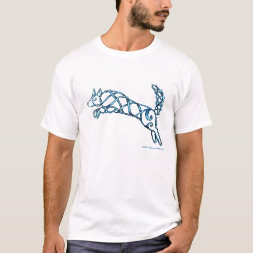 Border Collie Knot, Dark T-Shirt