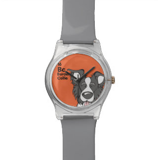 Border collie - la tabla del perro relojes