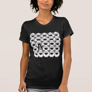 Border collie Liso-Revestido en las ovejas Camiseta