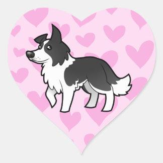 Border Collie Love Heart Sticker