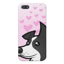 Case Savvy iPhone 5 Matte Finish Case with Collie Phone Cases design