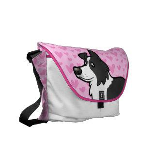 Border Collie Love Messenger Bag